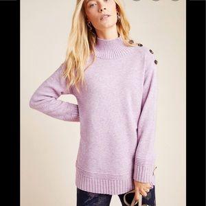 Anthropologie margarita tunic sweater button neck